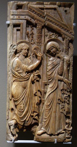 Тарелка с Благовещения . Восточное Средиземноморье и Египет, седьмой-восьмой век. Ivory. Милан .